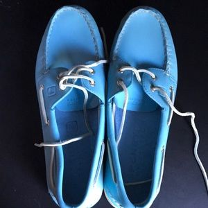 Baby Blue Sperry Boat Shoes Size 13